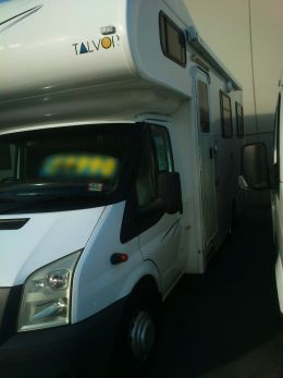New motorhome at dealer