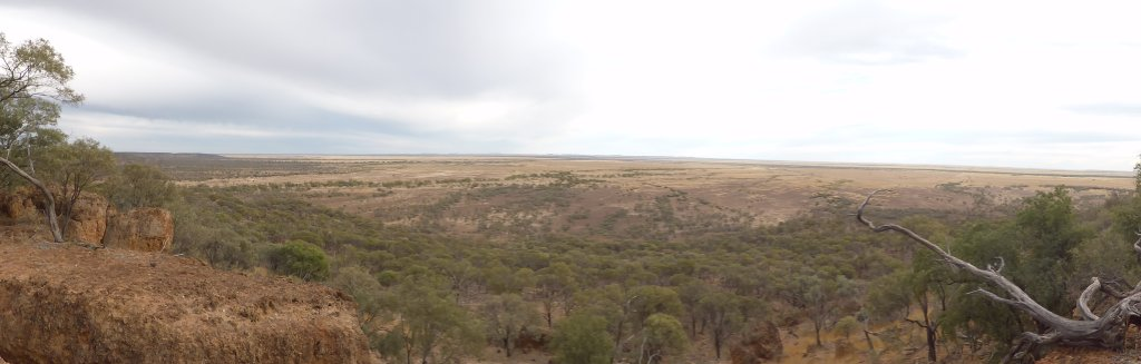 Looking out over the plains to the east of Winton