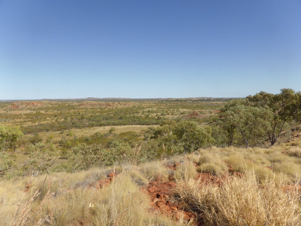 View from lookout at Tennant Creek