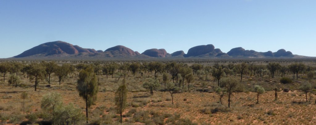The Olgas, viewed from the south east