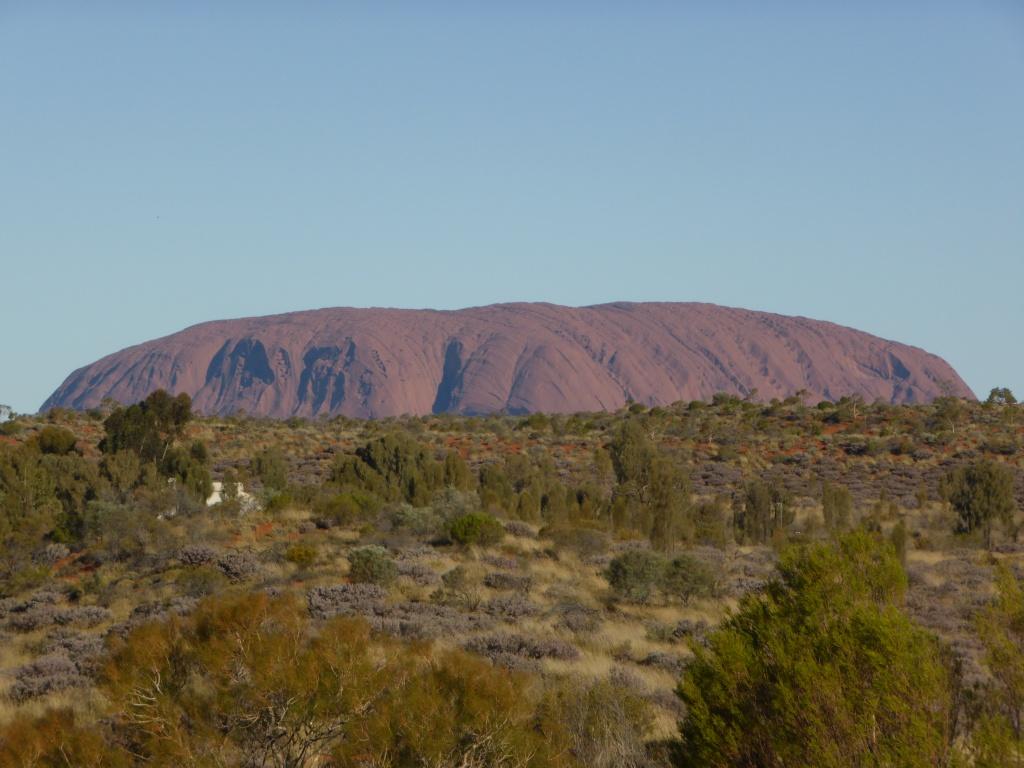 Uluru, from a distance.