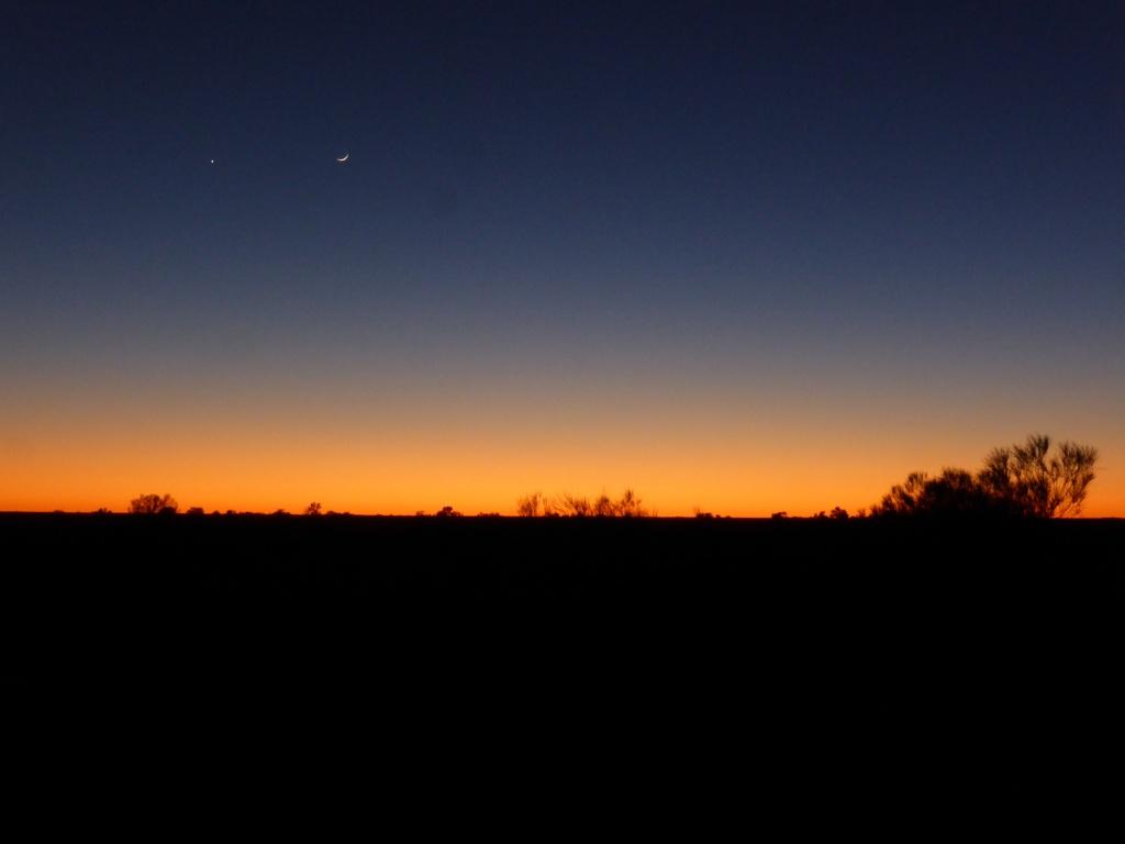 well before sunrise!
