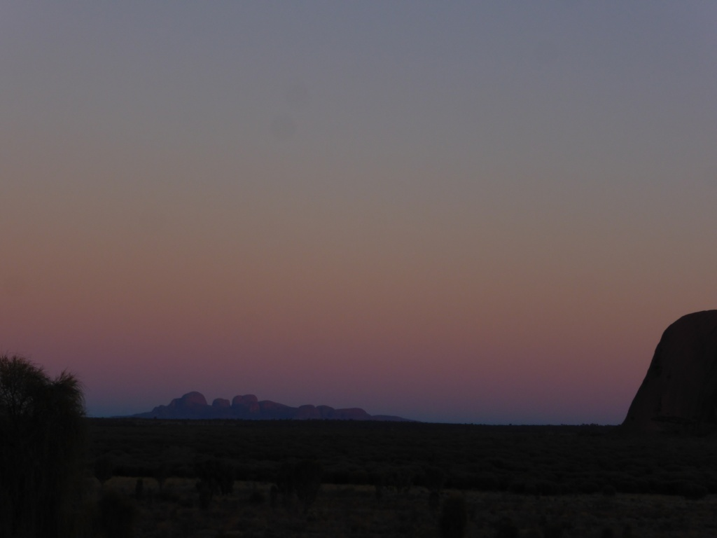 The Olgas in the distance