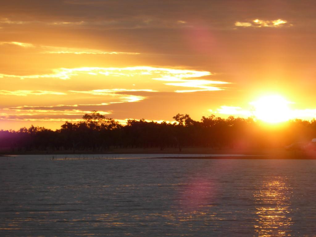 Sunset at Longreach Waterhole, NT