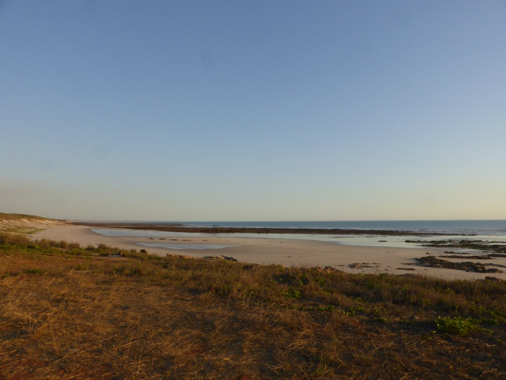 close to low tide