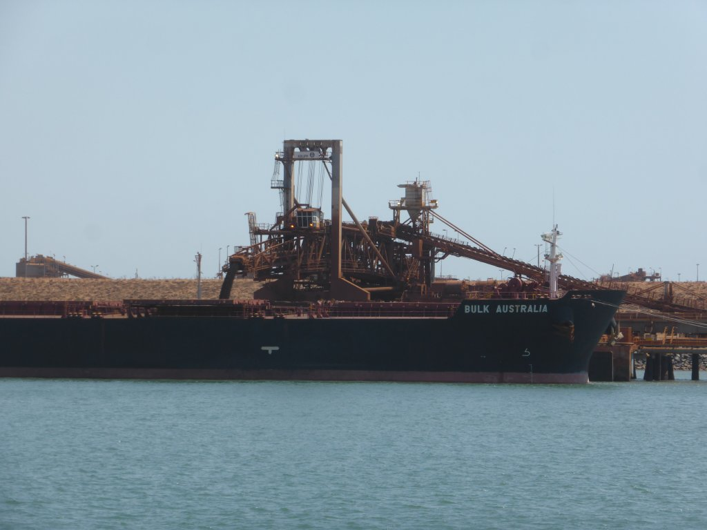 Iron ore being loaded