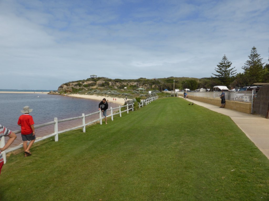 Edge of the Moore River, looking out to sea.