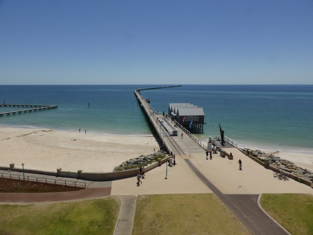 looking out over Busseltons 1.8km jetty, from the lighthouse