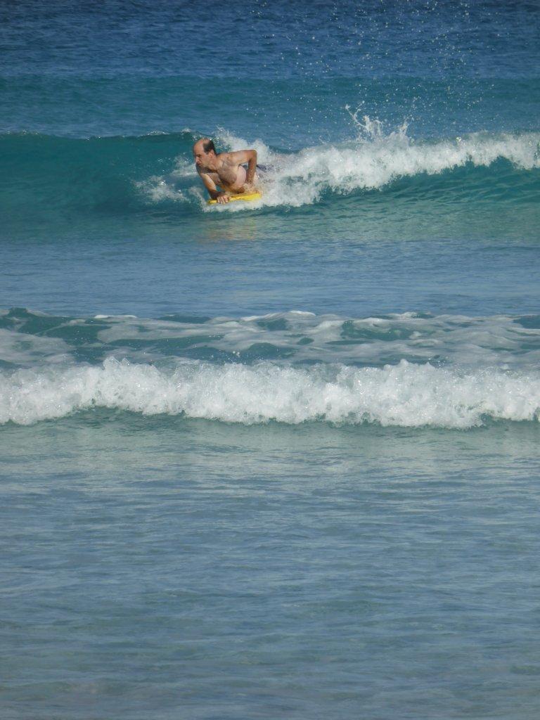 only little waves, but still good fun!