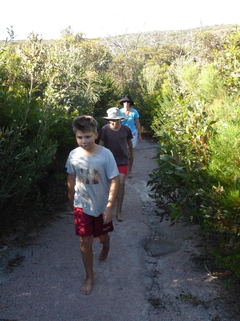 Walking into Little Hellfire Bay