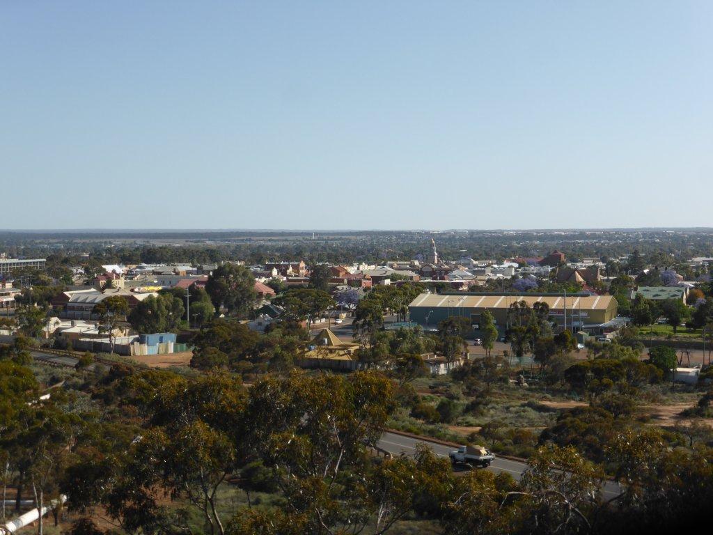 looking out over Kalgoorlie