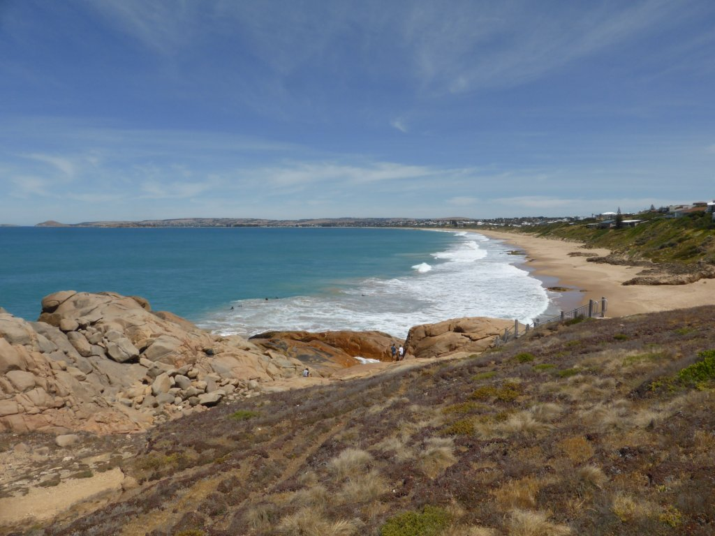 around the headland, looking over towards Victor Harbor