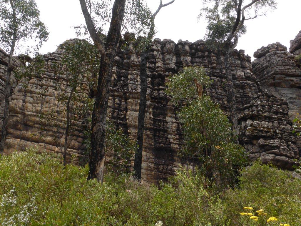 interesting rock walls
