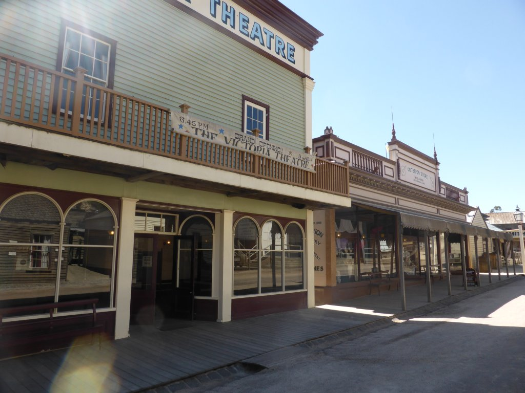 small section of the main street of Sovereign Hill