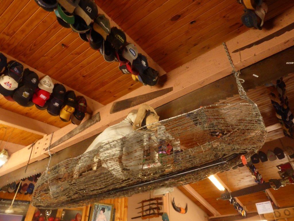barbed wire canoe in Swift Creek pub