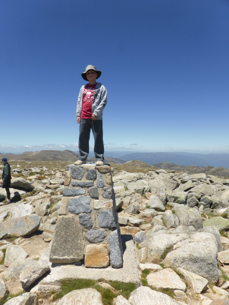 Daniel at the summit of Mt Kosciuszko