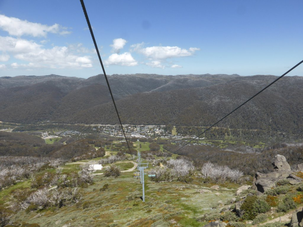 Looking down on Thredbo village