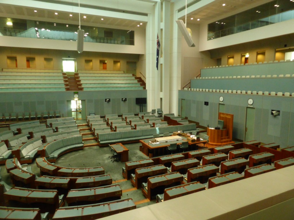 House of Representatives. Note the graduated green colour representative of eucalyptus leaf.