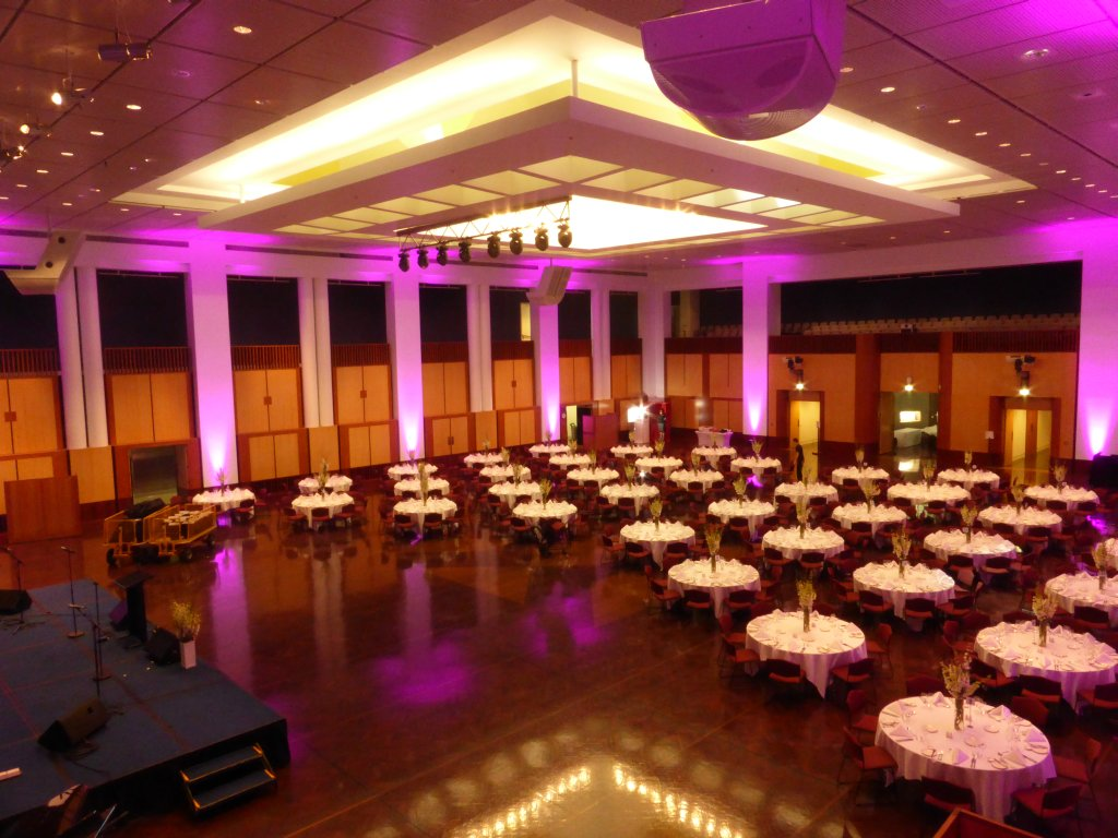 Great Hall prepared for an event
